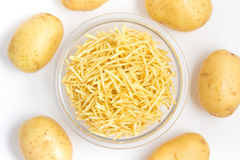 Potato Sticks Into A Bowl Royalty Free Stock Photos