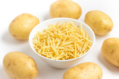 Potato Sticks Into A Bowl Royalty Free Stock Photography