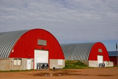 Potato Storage Warehouses Stock Photography