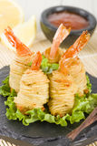 Potato String Prawns Royalty Free Stock Image