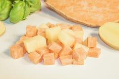 Potato and sweet potato Royalty Free Stock Photos