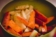 Potato , sweet potato and species Stock Images