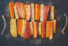 Potato , sweet potato and species Royalty Free Stock Photos