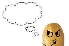 Potato Thinking Stock Image