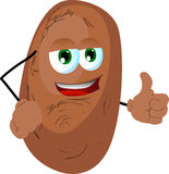 Potato with thumb up Stock Photography