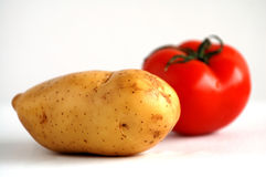 Potato and tomato Royalty Free Stock Photo