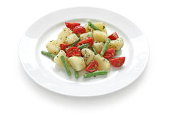 Potato tomato green bean salad Royalty Free Stock Photos