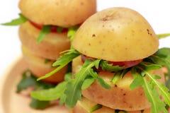 Potato towers with rocket Royalty Free Stock Photos