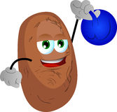 Potato training with kettlebell Royalty Free Stock Photo