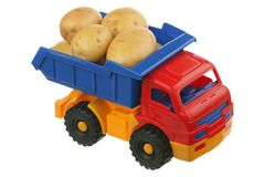 Potato in the truck Stock Photo