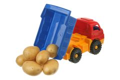Potato in the truck Royalty Free Stock Photography