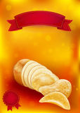 Potato tuber and chips Royalty Free Stock Image