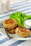Potato and Tuna Cakes Royalty Free Stock Photo