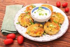 Potato and tuna patties Royalty Free Stock Images