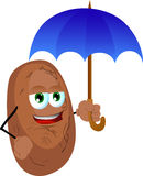 Potato with umbrella Stock Photos