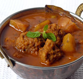 Potato Vadi Curry Royalty Free Stock Images