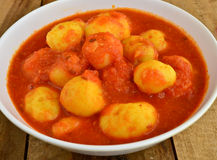 Potato Vadi Curry Stock Image