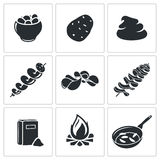Potato Vector Icons Set Stock Photo