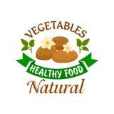 Potato vegetable healthy natural food emblem Royalty Free Stock Photo