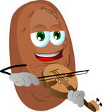 Potato with violin Royalty Free Stock Photography