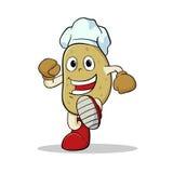Potato wearing chef hat Stock Photo