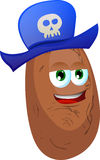Potato wearing pirate hat Royalty Free Stock Photography