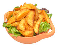 Potato Wedges In Bowl Royalty Free Stock Photos