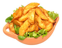 Potato Wedges In Bowl Stock Photography