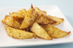 Potato Wedges with Cajun Seasoning Stock Images