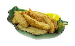 Potato Wedges Cooked In Dish Stock Photography