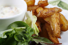 Potato wedges Royalty Free Stock Photography