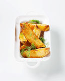 Potato wedges Royalty Free Stock Photos