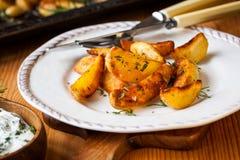 Potato wedges Royalty Free Stock Photos