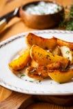 Potato wedges Royalty Free Stock Images