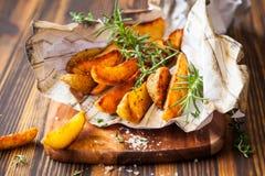 Potato wedges Royalty Free Stock Image