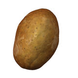 Potato on white Royalty Free Stock Photos