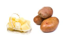 Potato at white background Royalty Free Stock Image