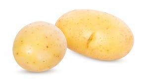 Potato on white stock photos