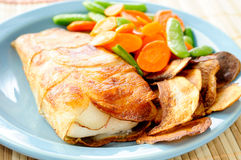 Potato wrapped halibut fillets Royalty Free Stock Photo