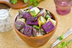 Potato and Yam salad Stock Photography