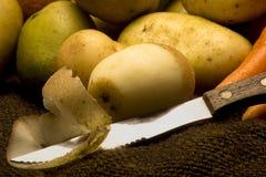 Potatoe épluché de bébé Photographie stock
