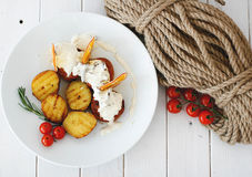 Potatoe с мясом Стоковые Фото