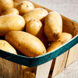 Potatoe in the basket Stock Photo