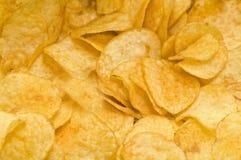Potatoe chips. Background of taste potatoe chips Royalty Free Stock Photography