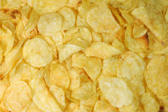 Potatoe chips background Royalty Free Stock Photography