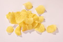 Potatoe Chips - Kartoffelchips Royalty Free Stock Image