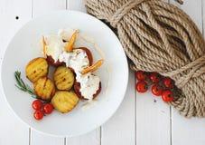 Potatoe met vlees Stock Foto's