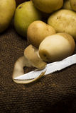 Potatoe sbucciato del bambino Fotografia Stock