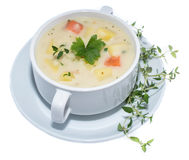 Potatoe Soup isolated on white Royalty Free Stock Photo