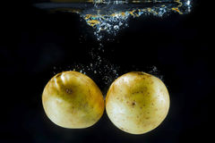 Potatoe under water Stock Photos
